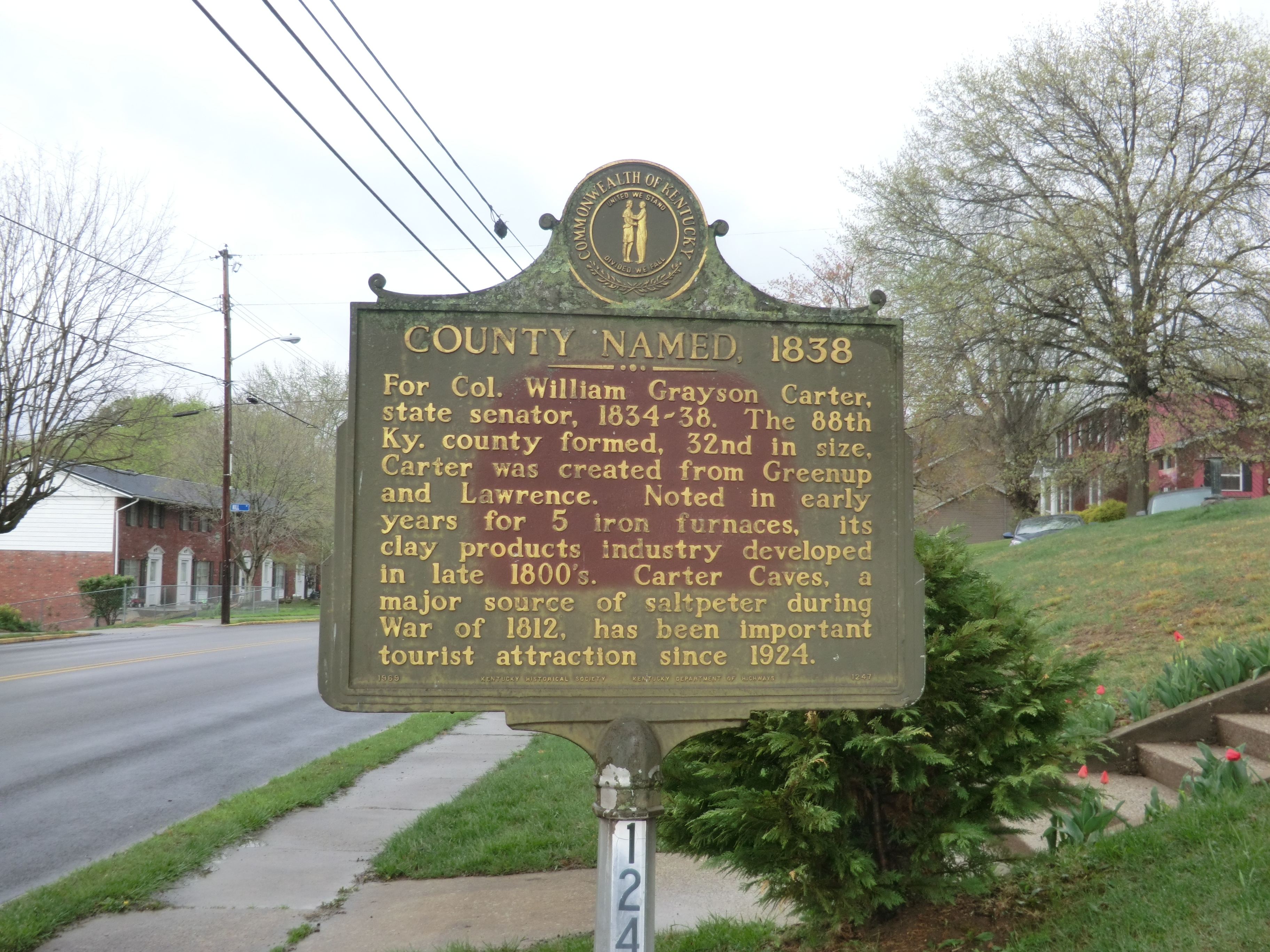 County Named, 1838 Marker
