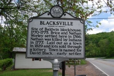 Blacksville Marker image. Click for full size.