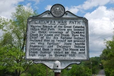 Catawba War Path Marker image. Click for full size.