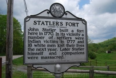 Statler's Fort Marker image. Click for full size.