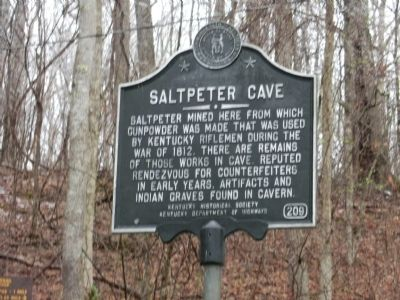 Saltpeter Cave Marker image. Click for full size.