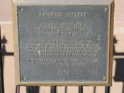 Renwick Gallery: National Historic Landmark Marker image. Click for full size.