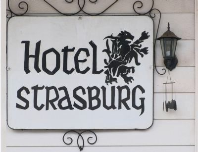 Hotel Strasburg Sign image. Click for full size.