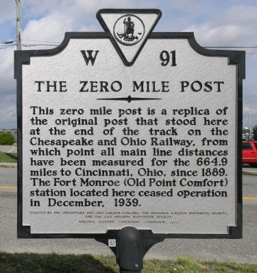 The Zero Mile Post Marker image. Click for full size.