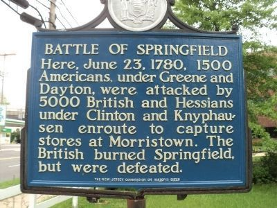 Battle of Springfield Marker (Restored) image. Click for full size.