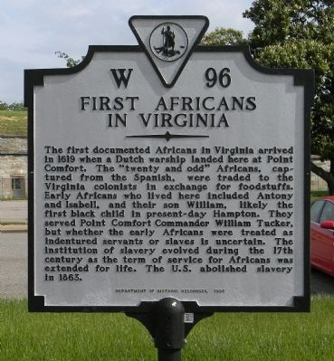First Africans in Virginia Marker image. Click for full size.