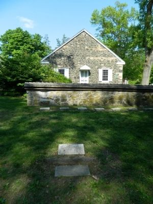 Marker, Stone, with Birmingham Friends Meeting House image. Click for full size.