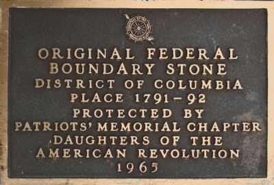 Original Federal Boundary Stone NW 7 Marker image. Click for full size.