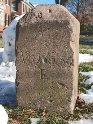Original Federal Boundary Stone NW 7 image. Click for full size.