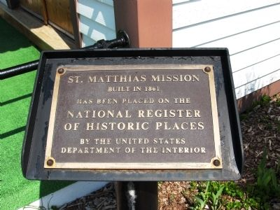 St. Matthias Mission Marker image. Click for full size.