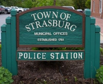 Town of Strasburg Municipal Offices<br>Established 1761<br>Police Station image. Click for full size.