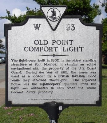 Old Point Comfort Light Marker image. Click for full size.