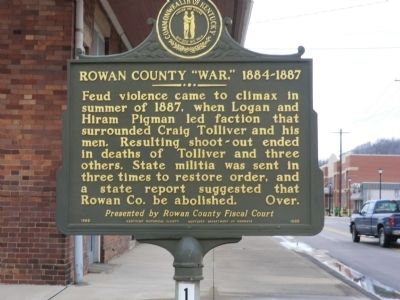 "Rowan County ""War,"" 1884-1887 Marker image. Click for full size."