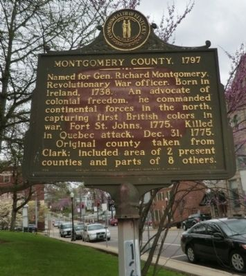 Montgomery County. 1797 Marker image. Click for full size.