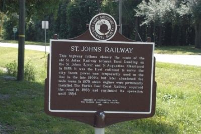 St. Johns Railway Marker image. Click for full size.