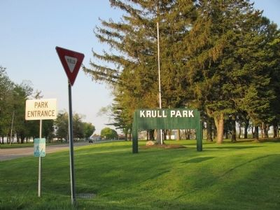 Krull Park Entrance Sign on NY Route 18 image. Click for full size.