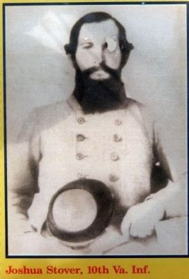 Joshua Stover<br>10th Virginia Infantry image. Click for full size.