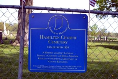 Hamilton Church Cemetery Marker image. Click for full size.