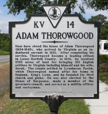 Adam Thorowgood Marker image. Click for full size.