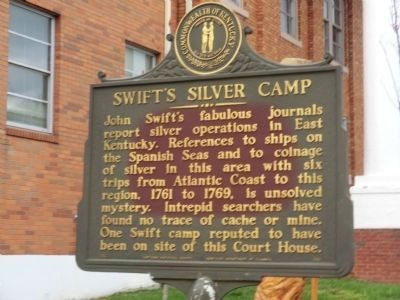 Swift's Silver Camp Marker image. Click for full size.