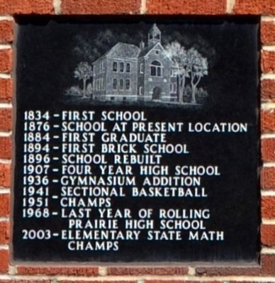 Rolling Prairie School Marker image. Click for full size.