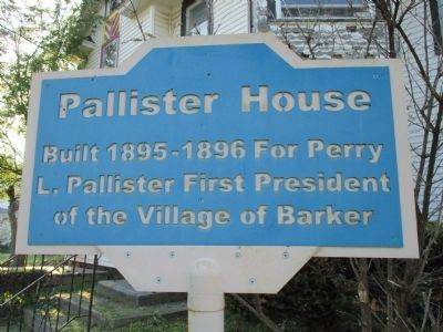 Pallister House Marker image. Click for full size.
