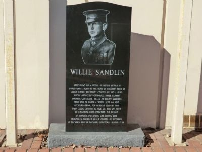 Willie Sandlin Marker image. Click for full size.