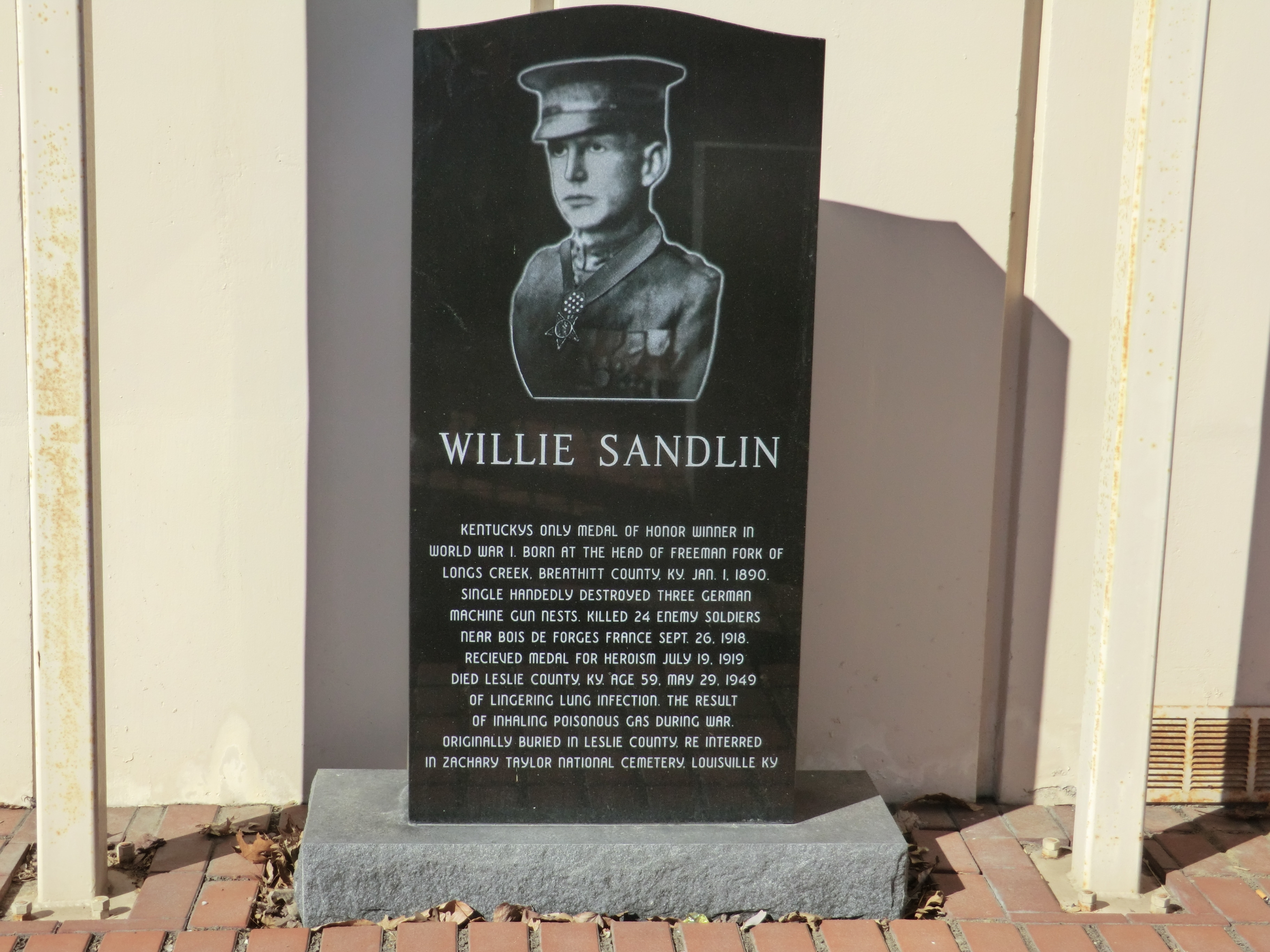 Willie Sandlin Marker