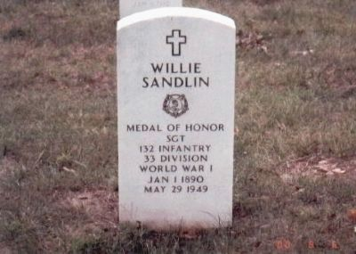 Willie Sandlin Grave Marker image. Click for full size.