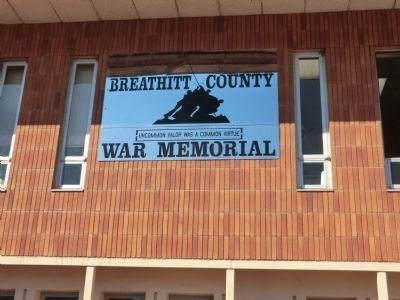 Breathitt County War Memorial image. Click for full size.