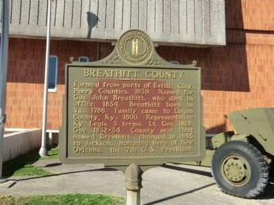 Breathitt County Marker image. Click for full size.