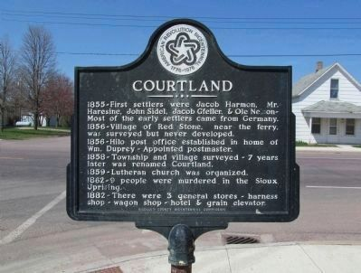 Courtland Marker image. Click for full size.