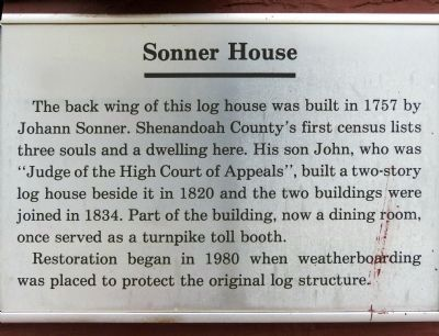 Sonner House Plaque image. Click for full size.
