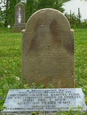 Grave of Obadiah Samuel Funk image. Click for full size.