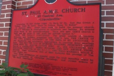 St. Paul A.M.E. Church Marker image. Click for full size.