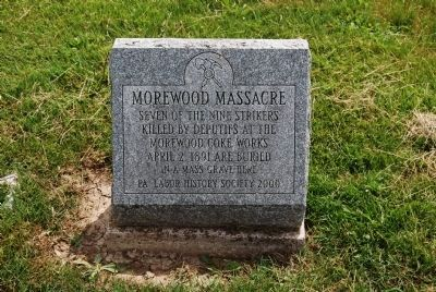 Morewood Massacre Mass Grave Marker image. Click for full size.