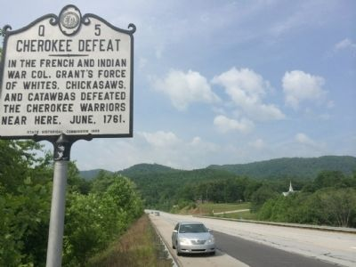 Cherokee Defeat Marker Area (Looking South) image. Click for full size.