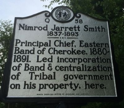Nimrod Jarrett Smith Marker image. Click for full size.