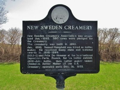 New Sweden Creamery Marker image. Click for full size.