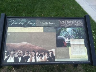 Trail of Tears - Qualla Town Marker image. Click for full size.