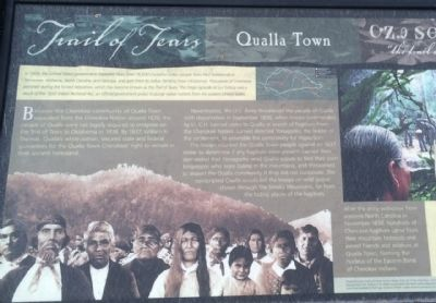 Trail of Tears - Qualla Town Marker (Closeup left side) image. Click for full size.