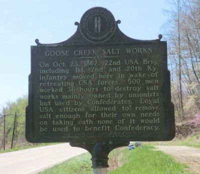 Goose Creek Salt Works Marker image. Click for full size.