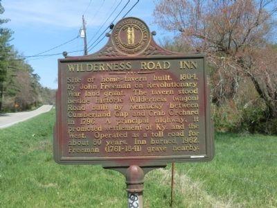 Wilderness Road Inn Marker image. Click for full size.