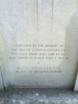Catoosa County War Memorial image. Click for full size.