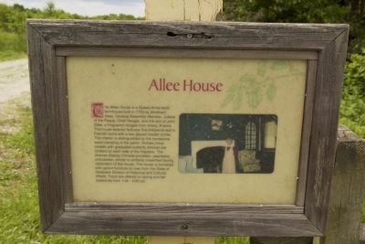 Allee House Marker image. Click for full size.