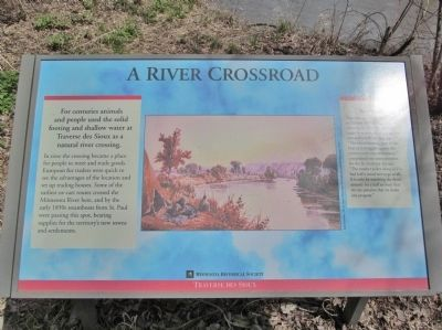 A River Crossroad Marker image. Click for full size.