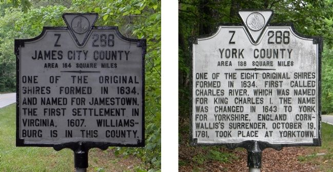 James City County/York County Marker image. Click for full size.