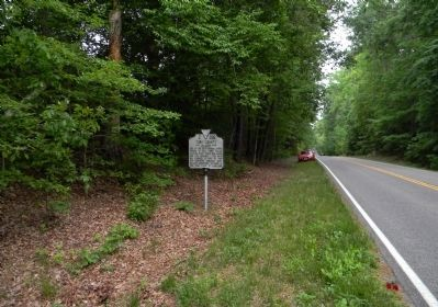 Wide view of the James City County / York County Marker image. Click for full size.