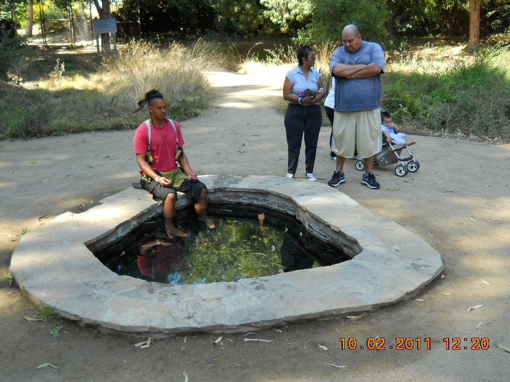 Tongva Sacred Springs Pool with Visitors