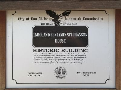 Emma and Benjamin Stephanson House Marker image. Click for full size.